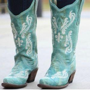 Corral Turquoise Blue Cortez Cowboy Boots
